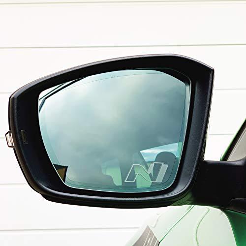 PrintAttack P047 V2   2er Set Spiegelaufkleber Milchglas Außenspiegel Etched Glass   Auto   Aufkleber   Sticker   Rückspiegel