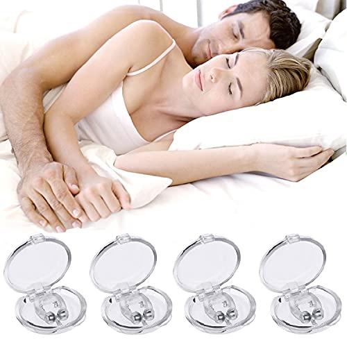 Schnarchstopper Anti Schnarch, 4PCS Nasenklammer gegen Schnarchen Anti Schnarch Magnet Nasen-Clip Schnarchschiene Nasenspreizer mit magnet Schnarchschutz und Aufbewahrungsbox