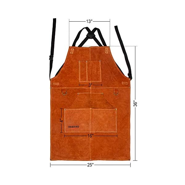 BEETRO Welding Apron with Gloves 2