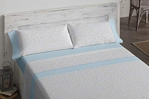 Burrito Blanco Juego de sábanas, 509 Azul