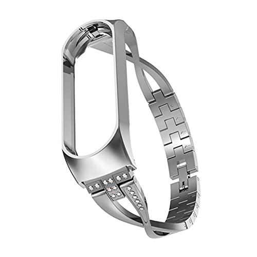 Mujer STROP Reloj DE RELAJE REEMPLAZO Pulsera de Metal Acero Inoxidable for MIBAND 5/6 Pulsera Ajustable Banda (Band Color : 14, Size : Mi Band 3 4)