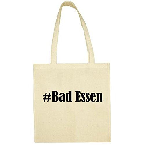 Tasche #Bad Essen Größe 38x42 Farbe Natur Druck Schwarz
