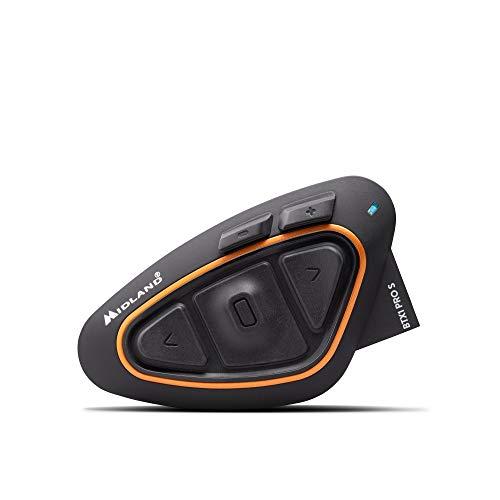 MIDLAND BT X1PRO S シングル C.1411.10 バイク用インカム Bluetooth ヘルメットの中で音楽が聴ける 通話ができる 同時通話4人まで可能 インターカムモード最大通信距離800m 携帯電話2第同時待ち受け可能 (A2DP 1台_HFP 1台) ワイドFMラジオ対応 高音質Hi-Fiスピーカー標準搭載 最新ノイズキャンセルMwe