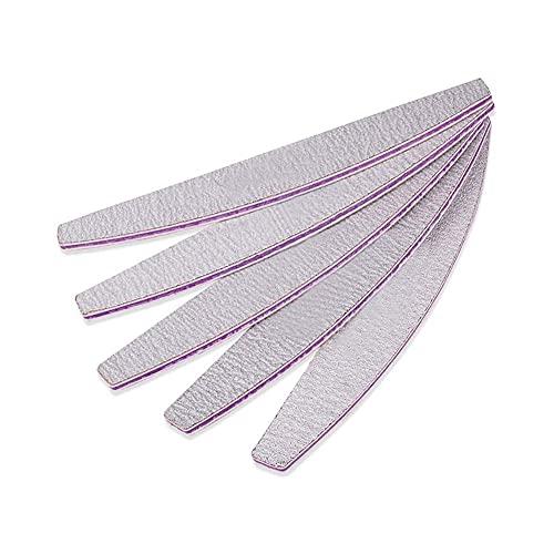 WUYOO Juego de limas de uñas profesionales 100/180, 5 unidades, para uñas de gel de doble cara, lima de uñas, bloque pulidor para el cuidado de las uñas y el peinado