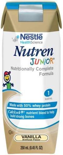 Nutren Junior Genuine Free Shipping Beauty products Vanilla -brickpacks- Case of each 24 FL OZ 8.45