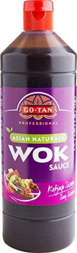 Go-Tan Originele Wok Ketjap Sesamsaus, 1 liter, verpakking van 6 stuks