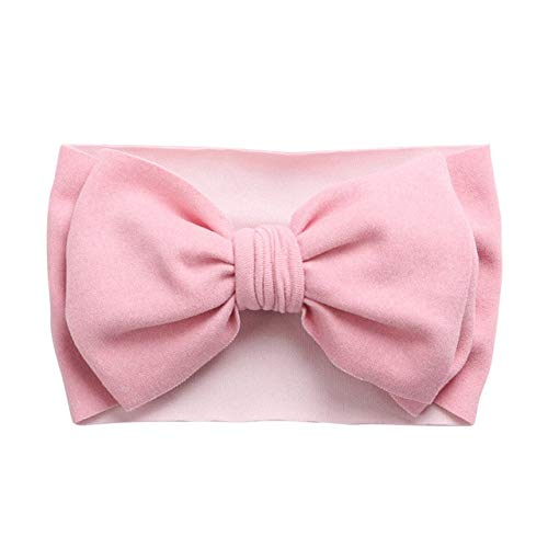 Gorro de Invierno para bebé, Diadema de algodón elástico Suave, Gorro para niña, Gorro de Color sólido para niños, Gorro de Punto para niñas, Diadema, Accesorios para bebés-Style 4 Light Pink