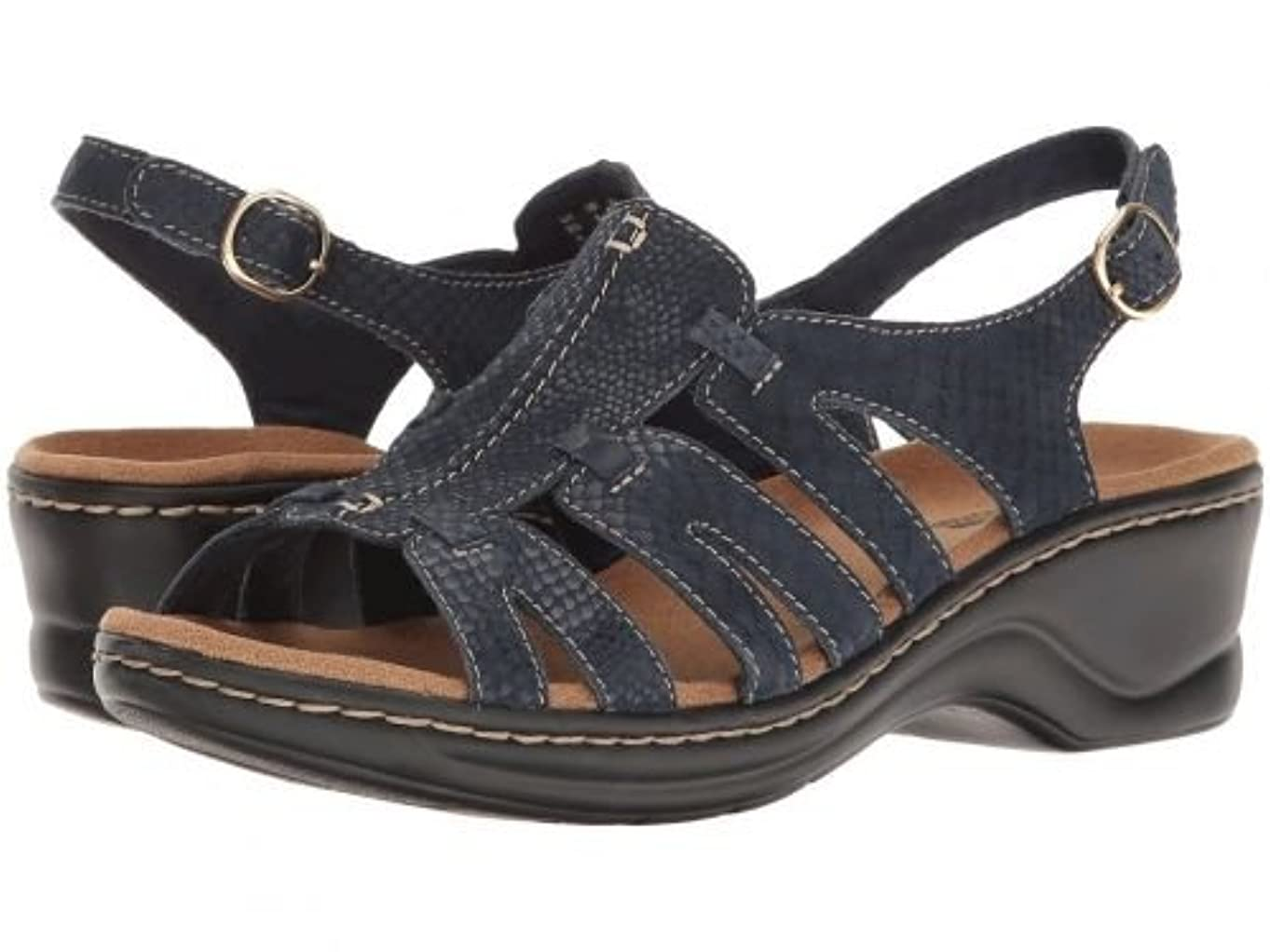 充実悪用見せますClarks(クラークス) レディース 女性用 シューズ 靴 サンダル Lexi Marigold Q - Narrative Navy [並行輸入品]
