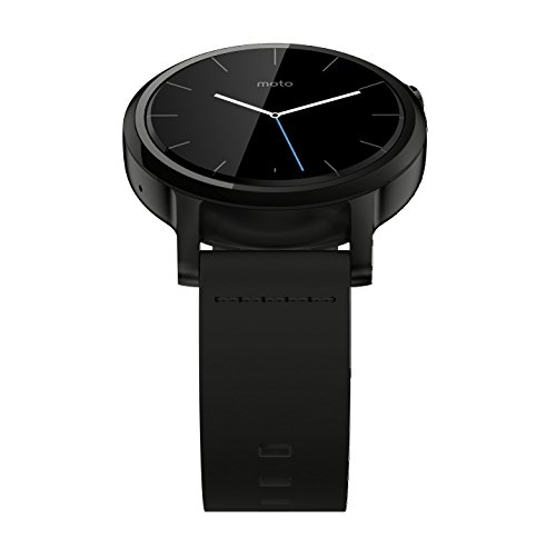 Motorola Moto 360 2nd Gen. Mens 42mm Smartwatch, Black with Black Leather 5