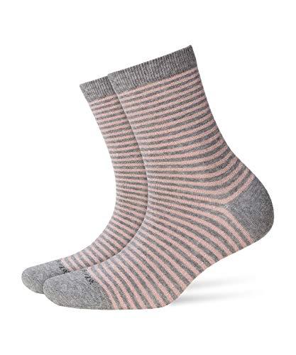 BURLINGTON Damen Socken Ladywell Ringlet - Baumwollmischung, 1 Paar, Grau (Melange Grey 3967), Größe: 36-41