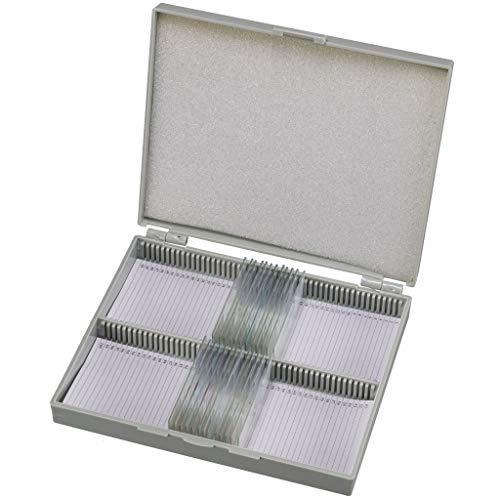Bresser Dauerpräparate für Mikroskop (25 Stück), vorgefertigte und konservierte Präparate zu verschiedenen Themen