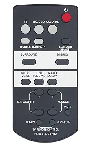 FSR66 ZJ78750 Replaced Remote fit for Yamaha AV Receiver YAS-103 ATS-1030 ZJ787500 YAS-93