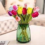 10 Piezas de Flores de Tulipanes Artificiales, Flores de Sed