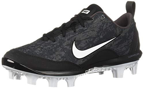 Nike Men's Hyperdiamond 2 Pro MCS Baseball Shoe, Black/White - Thunder Grey, 5