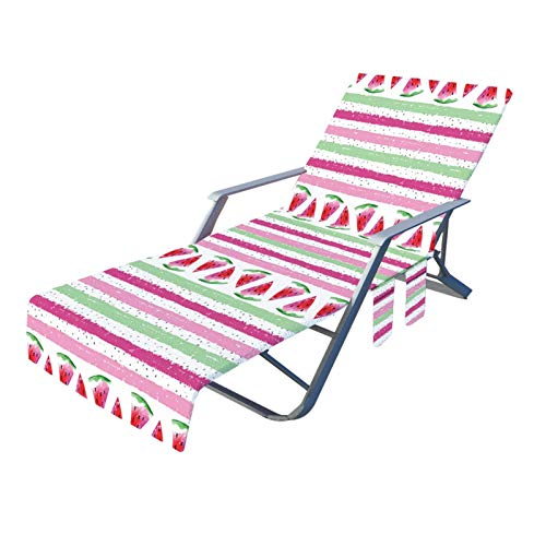 AMYZ Funda para Silla de Playa con Bolsillos Laterales,Funda de Toalla para sillón para Tumbona,Piscina,jardín,Playa,Hotel,sin Deslizamiento (82.6'x 28.7')