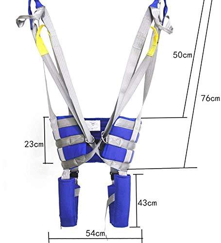 41+hYW5VAIL - HPDOM Eslinga Elevadora para Pacientes Eslinga De Malla Grande Eslinga Dieléctrica Cinturón De Transferencia Eléctrica con Soporte para La Cabeza Discapacidad Médica Cómoda