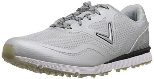 Callaway Women's Solaire Golf Shoe, Light Grey, 6 B US