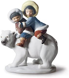 Lladro Porcelain Eskimo Riders