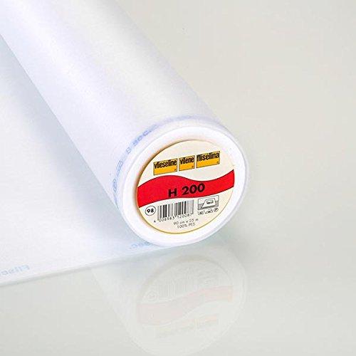 Fabulous Fabrics Vlieseinlage weiß, 90cm breit – zum Aufbügeln auf Jacken, Kleidern oder Oberteilen - Meterware erhältlich ab 0,5 m