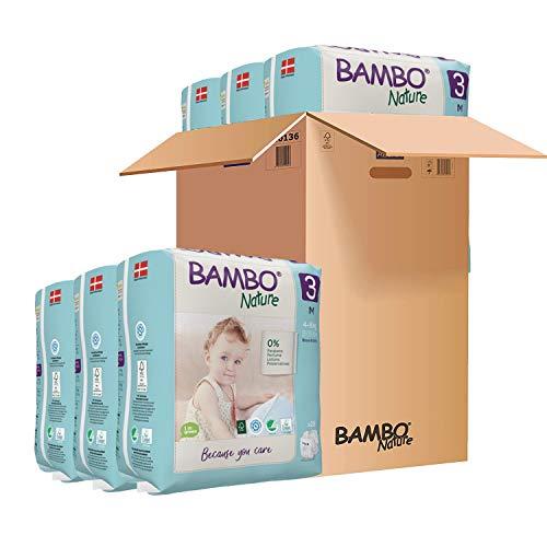 Pañales Bambo Nature Talla 3 – 4 a 8kg (PACK 6 x 28UN)