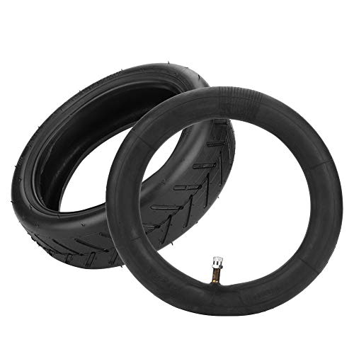 Neumático de scooter negro, goma 21.2x21.2x6cm Material de goma Neumático de scooter eléctrico