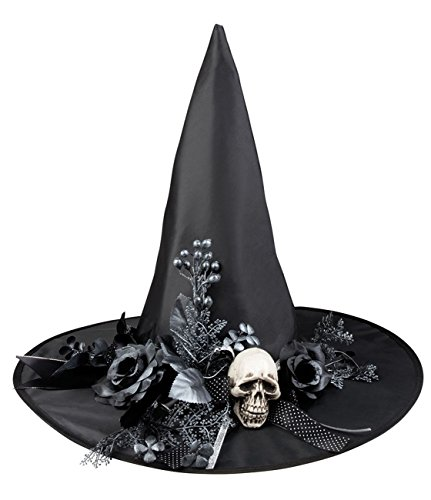Sombrero bruja con calavera