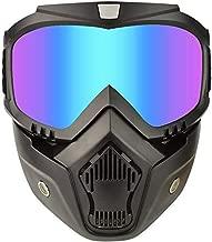 Motorcycle Goggles Mask Detachable,Ski Motocross Goggles Helmet Sunglasses (Colorful)
