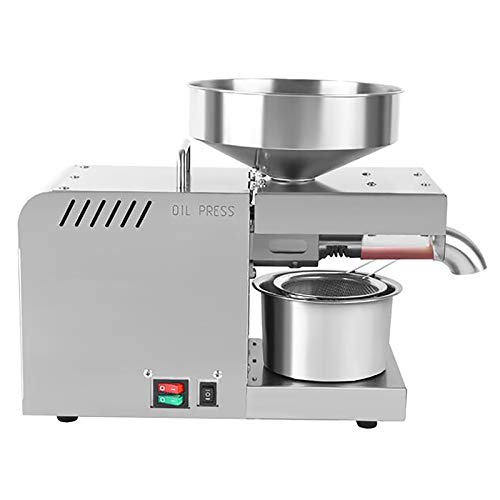 610w Máquina de prensa de aceite,Eléctrico Automático Frío/Caliente Comercial Extractor de prensa de aceite Extractor para Olive Flax Maní Cáñamo Semillas de cáñamo Canola,220v