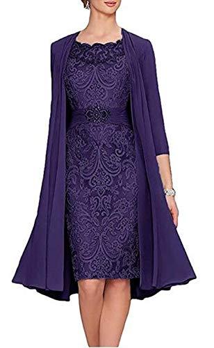 Snow Lotus 2-teiliges Damen-Brautkleid. Gr. 46, Violett (Grape Purple)