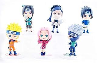 Stylish mini model of NARUTO six figure as a set