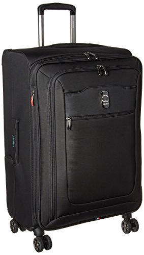 DELSEY Paris Hyperglide Softside Expandable Luggage with Spinner Wheels, Black, Checked-Medium 25 Inch