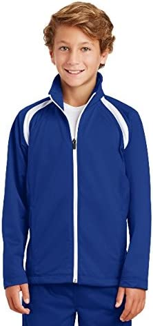 SPORT-TEK Youth Tricot Track Jacket F20