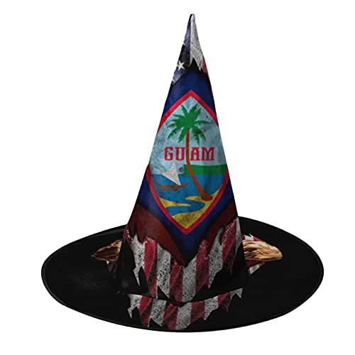 Disfraz unisex de bruja de Halloween para fiesta, diseño de bandera de Estados Unidos, accesorio de cosplay para niños, para hombre, mujer, color negro