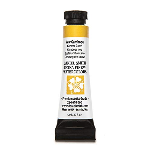 DANIEL SMITH Extra Fine Watercolor Paint, 5ml Tube, New Gamboge, 284610060