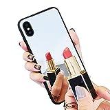 Misstars Miroir Coque pour iPhone XR, Luxe Élégant Housse Etui de Protection Ultra Mince PC Dur Arrière + TPU Souple Cadre Bumper Antichoc Anti Rayure pour Apple iPhone XR (6,1 Pouces)