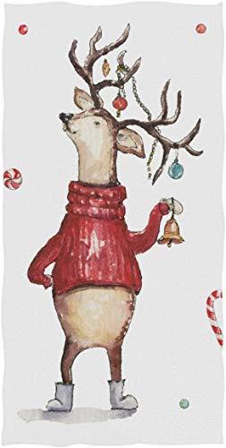 Rock SkullHand Towels Toalla de baño, Navidad Reno Elk Candy Cane Star Ball Ultra Suave Altamente Absorbente Toalla de baño pequeña Winter MerryRock SkullRegalos de decoración de baño70×140cm