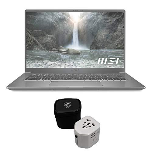EXPC Prestige 15 A11SCX-217 by MSI 15 Inch Content Creation Laptop (i7-1185G7, 32GB RAM, 1TB NVMe SSD, GTX 1650 4GB, 15.6' 4K UHD, Windows 10 Pro) Notebook Computer - Urban Silver