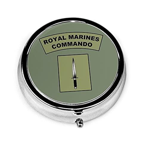 Royal Marines Commando Flash portátil Medicine Tablet Vitamina Holder Organizador para monedero, bolsillo de viaje