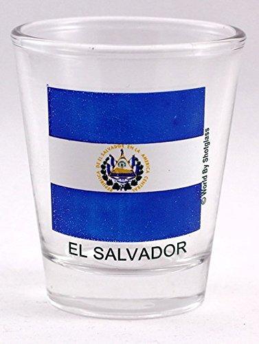 Schnapsglas El Salvador Flagge