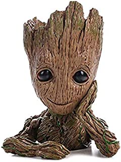 QiyuanLS Baby Groot Flower Pot - Guardianes de The Galaxy Baby Figuras de acción Modelo Lindo Toy Pen Pot - Perfecto como Regalo (Flower Pot -A1)