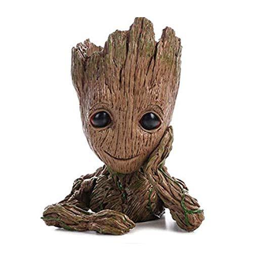 QiyuanLS Pot de fleurs Baby Groot, Les Gardiens de la Galaxie, adorable figurine pouvant servir de pot à crayons, jouet, cadeau idéal Pot de fleurs A1