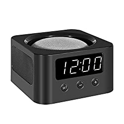 Universal Clock Stand and Docking Station for Smart Speakers - Google Home Mini, Amazon Echo Dot (3rd Gen), etc. - Black