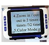 Lupa Digital de Video portátil de Mano de 32X 3.5 Pulgadas Ayuda...