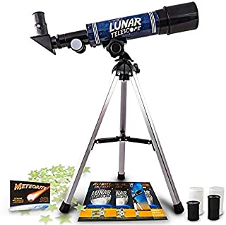 Lunar Telescope for Kids – Explore the Moon and its Craters (2017 Release)