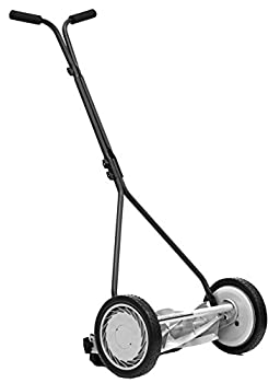 Great States 415-16 16-Inch 5-Blade Push Reel Lawn Mower 16-Inch 5-Blade Silver
