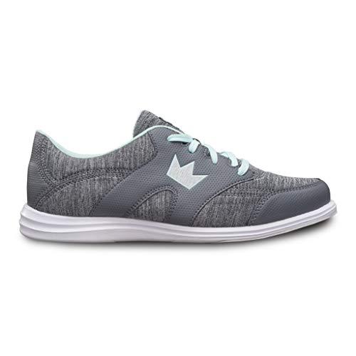 Brunswick Bowling Products Ladies Karma Sport Bowling Shoes- M US, Grey/Mint, 10
