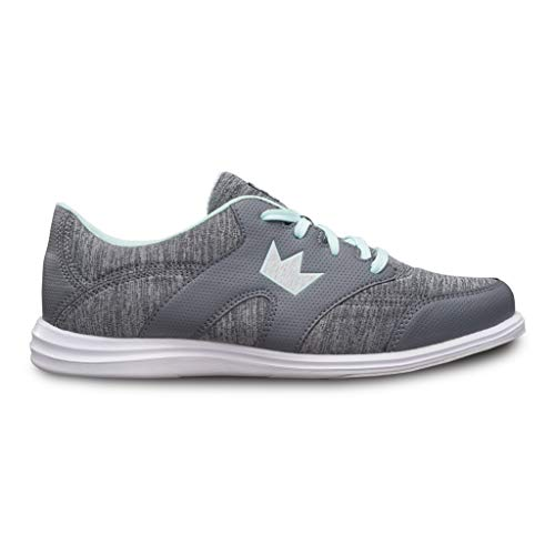 Brunswick Ladies Karma Sport Bowling Shoes Grey/Mint, 9.5