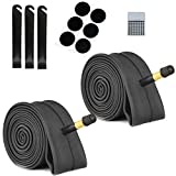 2 Pack Bike Tube with Bike Tube Repair Tool Kits, 3 Tire Levers,6 Self-Adhesive Round Patches, Bicycle Inner Tube Tyres Road MTB Bike Interior Tire Tube, Glueless Puncture Rep (20' x 1.75-2.125)