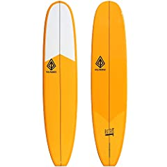 "HIGH-PERFORMANCE SHAPE: This 9'0″x 22 1/4″x 3 1/16"" Retro Noserider features what you'd expect from a high-end performance long board: a 9"" center fin (FIN INCLUDED), single bottom concave, 6oz top and bottom glass job and a gloss finish PARALITE TEC..."