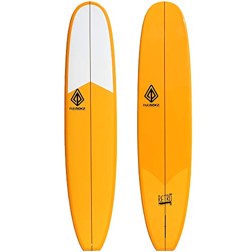 Paragon Surfboards Retro Noserider Longboard | High-Performance & Fun Single Fin Long Board Surfboard for All Wave Conditions | 9'0